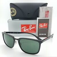 NEW Rayban Sunglasses RB4303 601S71 57mm Matte Black Classic Green AUTHENTIC