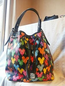 Disney Dooney & Bourke Mickey Mouse Bucket Handbag Balloon Pattern bag purse