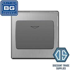 BG Screwless Flatplate Brushed Steel 16A Hotel Key Card Switch 1 Gang FBSKYCSG