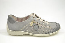 Rieker Damen Schuhe Schnürschuhe Halbschuhe Sneakers grau NEU M3705