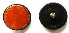 Bicycle cycle bike garde-boue round amber réflecteur 59mm-pack de 1