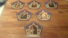 Universal Studios Honeydukes Harry Potter Chocolate Frog Card ENTIRE 6 CARD SET