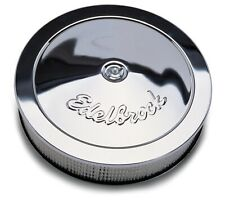 "Edelbrock 1221 Chrome Air Cleaner for Edelbrock Carbs 14"" Diameter 3"" Filter"