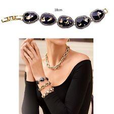 B456 Forever 21 Vintage Downton Abbey Moon Stone Gemstone Gold Bracelet  UK