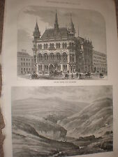 The New reform Club at manchester 1871 old print