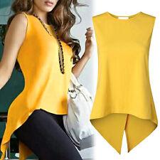 Women's Peplum Sleeveless Tank Top Slim Blouse Casual Shirt Tops T-Shirt Shirts