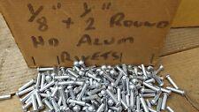"25 x  1/8"" x 1/2"" ROUND HEAD SOLID ALUMINIUM RIVETS snap head rivets"