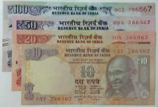 786 WITH FANCY NUMBER.***786567*** 10,20,50,100 RUPEES  4 U.N.C NOTES