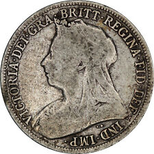 1900 Victoria silver one shilling coin of Great Britain