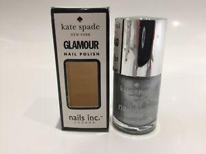 Nails Inc Kate Spade Nail Polish Soho Silver Metallic 10ml New RRP £12!! Varnish