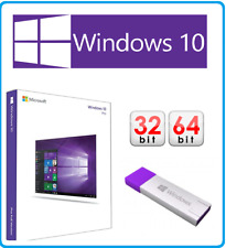 Factory Sealed Microsoft Windows 10 Pro Professional 32/64bit (USB) & COA