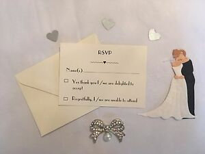 Wedding / Birthday / Christening / Baptism / Any Occasion RSVP Cards, Envelopes