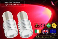 2x BA15S P21W 1156 382 207 245 Cree LED Red Tail Stop Bulbs Rear Lamps 12v 24v