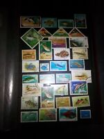 Fische Lot Briefmarken Stamps Timbre Sellos