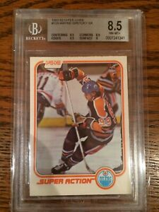 1981 81-82 OPC O-PEE-CHEE WAYNE GRETZKY SUPER ACTION SA NM-MINT BGS 8.5 LOW POP