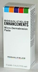 Rodan and Fields Enhancements Microdermabrasion Paste 10 Packets 5ml Each