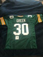 Ahman Green Beckett Certified Autographed Jersey,Green, XL