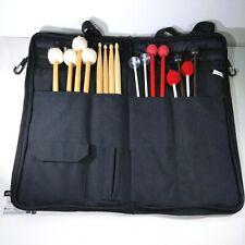 LOT of 8 Pair Drum Sticks & Mallets w/ Soft Case Percussion Drum Instrument