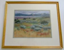 "Deborah Christensen Original Pastel ""New Mexico Landscape"""