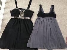 Size 12 Dress Long Top Bundle Black And Grey Floral Strappy Dresses
