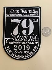 STURGIS 79TH HARLEY MOTORCYCLE RALLY 2019 JACK DANIELS OPERATION RIDE HOME PATCH