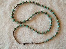 Vintage Santo Domingo  Turquoise Heishi Necklace  Original, not redone
