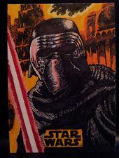 Star Wars The Last Jedi Kylo Ren Topps Sketch Card Artist Proof by Kurt Ruskin