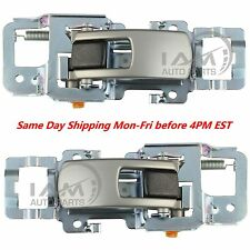 Inside Silver Door Handle PAIR Left & Right Front or Rear 2005-2009 Equinox