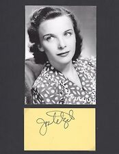 JOAN TETZEL ACTRESS ALFRED HITCHCOCK STAR SIGNED AUTOGRAPH DISPLAY WITH COA