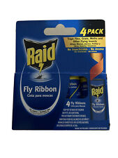 4X Raid Fly Ribbon Trap, Traps Flies, Gnats, Moths and Other Flying Insects Nib