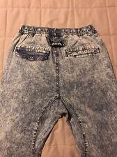 NEW Zanerobe Sureshot Acid Wash Denim Joggers Skinny Slim Pants Elastane Size 30