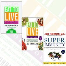 Joel Fuhrman's Eat to Live Cookbook & Super Immunity 3 Books Collection Set New