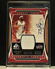 2004-05 UD SP Authentic Lebron James Auto/Jersey Card #4/100 Cavaliers Nice!
