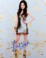 Lucy Hale Signed Autographed 11X14 Photo Gorgeous Sexy in Silver PSA U59735
