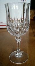 1 Durand Cristal d'Arques Longchamp  Wine Glass Stem Clear Cut