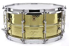 Ludwig Supraphonic Brass Hammered Snare Drum w/ Tube Lugs 6.5x14 - Video Demo