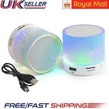 Altavoz Bluetooth Inalámbrico Música Mini Bajo Para Ipad Iphone MP3 con luz led reino unido