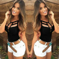 Sexy Women Lady Bodycon Vest Tops Sleeveless Blouse Casual Tank Tops T Shirt