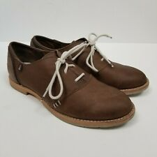 Ahnu Brown Leather Lace Up Suede Shoes Size 7