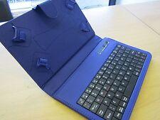 Teclado Bluetooth Azul Estuche de transporte y soporte para Amazon Kindle Fire HD 5 Tablet PC