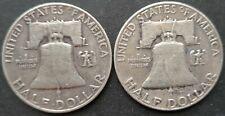 USA  Franklin Half Dollar 2 Coins