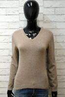 Calvin Klein Maglione Lana Donna Taglia M Cardigan Pullover Sweater Marrone