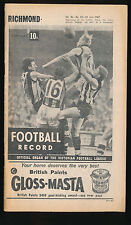 1967 VFL Football Record Richmond v Melbourne June 24 Tigers Demons