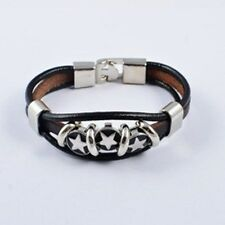 Men's Bracelet Alloy Leather Diamond Shell