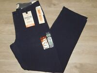 DOCKERS Downtime Khaki Pants Straight Fit Flex Smart 360 Stretch Navy Blue NWT