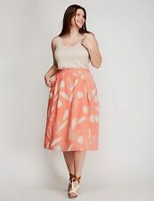 Lane Bryant NEW women's orange peach skirt plus size 26 / 28