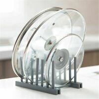 Plastic Kitchen Cooking Dish Pot Lid Spoon Rack Holder Organizer Stand Accessory