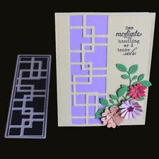 Geometric Rectangle DIY Cutting Dies Stencil Scrapbook Paper Cards Embossing