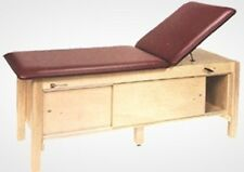 New Armedica Am-618 Wood Treatment Table w/ Enclosed Cabinet & Adjustable Back