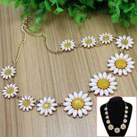 Charming Women Girls Daisy Flower Bib Statement Collar Chain Floral Necklace